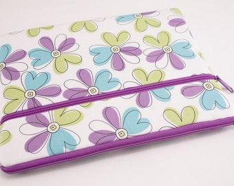 iPad Pro 9.7 Case, iPad air 2 sleeve, iPad Pro Cover, Microsoft Surface Pro 4 Case, Kindle Sleeve, Fabric Tablet Ereader-Purple Illusion