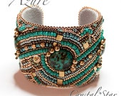 Azure Bead Embroidered Cuff