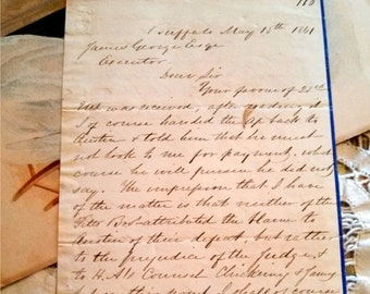 An Antique Original Civil War Letter Buffalo May 13th 1861 Union Letter Head Historical