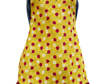 Lady Bugs  Kids Apron Size 4-6-8-Young Adult