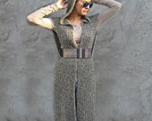 Knit VEST Women / Outerwear/Coats  white/gray/black  Sizes  XS/S 100% cotton