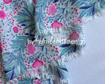 "Rayon fabric, floral print cotton rayon blend gauze fabric, half yard by 56"" wide"
