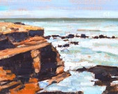 Cabrillo Tidepools, San Diego Landscape Painting