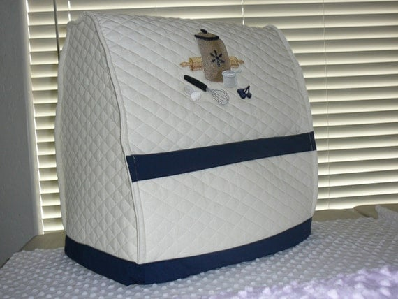 Navy Mixer Cover For 5 Qt Lift Bowl Or 6 Qt For By Coverstyles