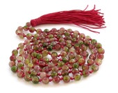 6mm Knotted Colorful Faceted Agate Gemstone 108 Prayer Beads Buddhist Buddha Japa Mala  ZZ284