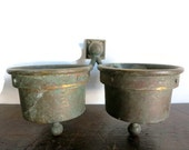 Antique Brass Cup Holder Hardware