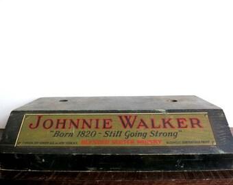 Vintage Johnnie Walker Display Stand