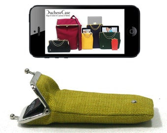 iPhone 5 case / cover Lemon Green gold / silver - FREE DELIVERY - Duchess case for iPhone