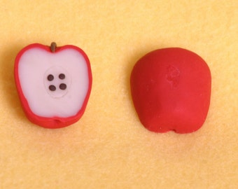 1 half apple  doll food for American Girl dolls