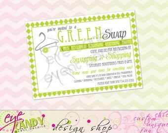 CLOTHING SWAP Party INVITE - Shopping Party - Swap n Shop -diy Printable Party - Fashion Swap - Recycle Party -