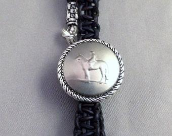 Hunt Bracelet, Equestrian bracelet, Macrame Horse Bracelet, Equestrian Hunt Bracelet