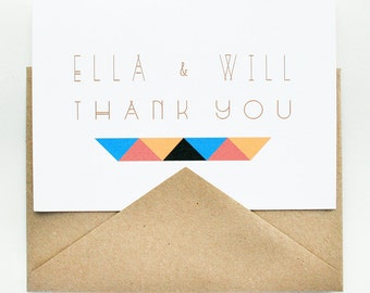 Thank You Notes - Wedding - Boho Chic - Personalized Stationery ---- The Wild One -- Custom Stationery Set -- CHOOSE YOUR QUANTITY