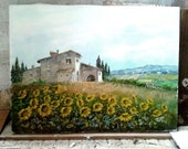 Lucca Countryside, original painting of Maestro Luciano Torsi, from Italy certified by the artist
