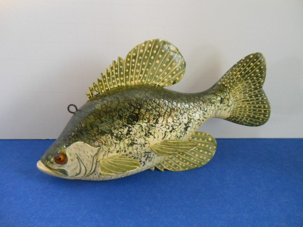 Black crappie ice spear fishing decoy for Crappie ice fishing