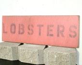 coastal wall art lobsters wood wall art