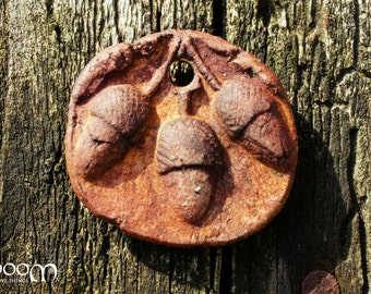 Porcelain Acorns Pendant - A Supply from the Gnoom Forest