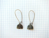 Bee Hive Antique Brass Earrings Kidney Ear wires Novelty Insect Jewelry
