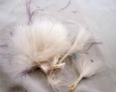 marabou feathers white Natural wooly bugger MRW-00 wispy