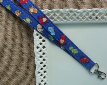 Fabric Lanyard - Kiss a FROG -Find a Prince