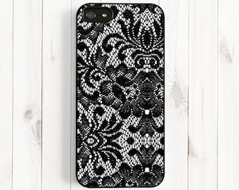 Black Lace iPhone case, iPhone 7 6 plus Case, iPhone 6 Case, iPhone 5s 5c 5 4s Case, Samsung Galaxy s5 s4 s3, Note 3 Case NP18