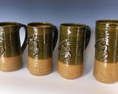 4 Celtic Stag/Deer Mugs