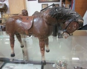 Antique Schoenhut Circus Horse with Saddle and Bridle