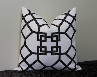 "SET of TWO - Kravet Xu Garden in Java/Dark Brown Espresso - 20"" x 20"" Decorative Designer Pillow Covers"