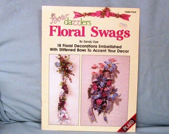 Bow Dazzlers Floral Swags by Sandy Dye #8456 Plaid