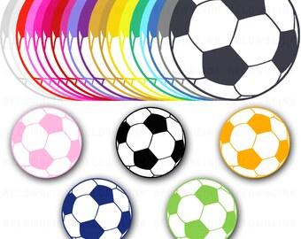Soccer Ball Digital Clip Art Commercial Use - Instant Download  - DP115