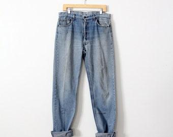 vintage Levi's 501 denim jeans, waist 35