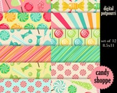 buy2get1 digital paper pack  - candy shoppe 8.5x11