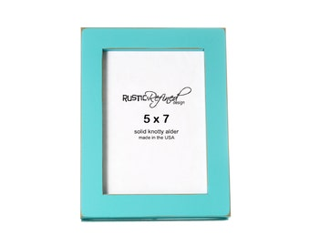 "5x7 Gallery 1"" picture frame - Turquoise"