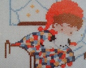 Vintage Love is...Counted Cross Stitch  sweet Darling Pattern Book 9 Projects 1976 by Rose Anne Hobbs