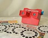 Vintage View Master GAF Picture Reels Retro Viewer 3D Viewing Includes Reels Movieland Wax Museum Carlsbad Caverns Vintage 1970s