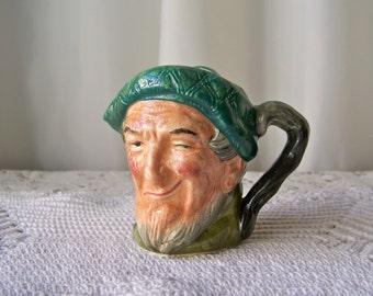 Vintage Royal Doulton Auld Mac Character Jug Toby Jug Miniature Mug Man Cave Vintage 1960s