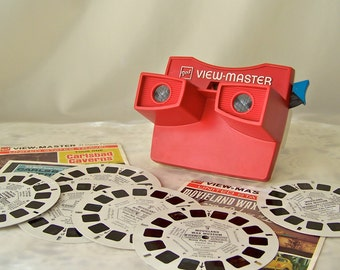 Vintage View Master GAF Picture Reels Retro Viewer 3D Viewing Includes Reels Movieland Wax Museum Carlsbad Caverns Vintage 1970s