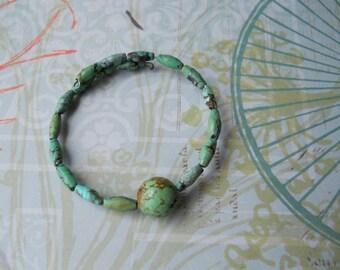 TURQUOISE Memory Coil Bracelet