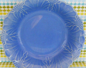 Cornflower Blue Art Deco Motif Bowl