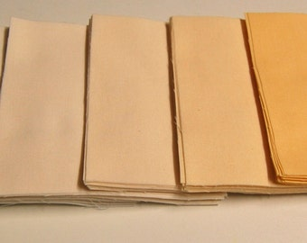 5 x 5 Inch Precut Quilt Squares, IVORY, 6 Step Hand Dyed Gradations, 90 Squares