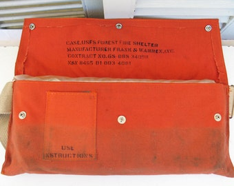 USFS Forest Fire Shelter - Vintage Fire Shelter - Dated Feb.1981