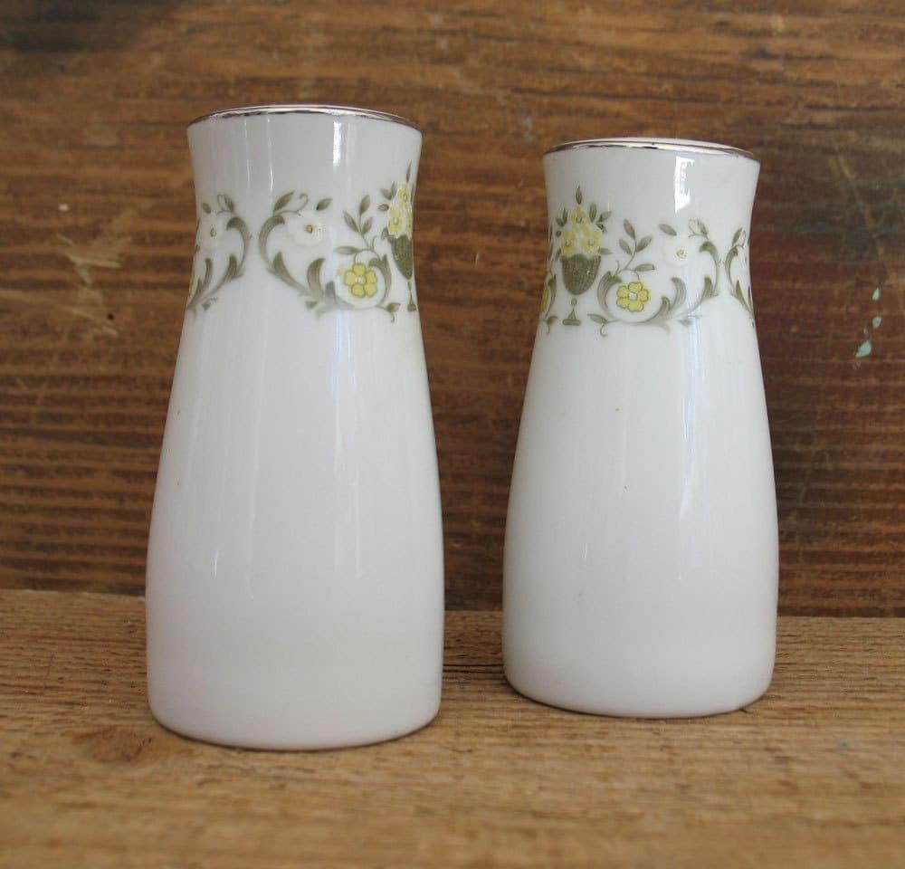 Vintage Porcelain China Salt And Pepper Shakers Vintage