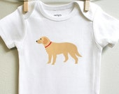 Baby onesie, golden retriever. Long or short sleeve. Your choice of size.