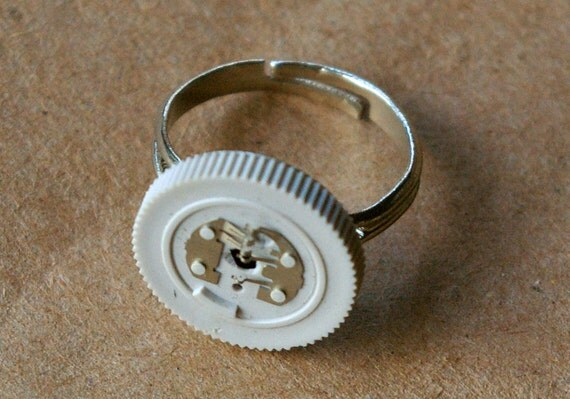 Gray Sound Dial Trashion Ring