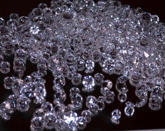 "275 pc Faceted Diamond Cut Accent Wedding Birthday Favors Diamonds 1/4"" and 1/2"""