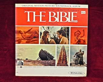 THE BIBLE - Original Motion Picture Soundtrack - 1966 Vintage Vinyl Gatefold Record Album