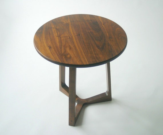 Items Similar To Modern Side Table In Solid Black Walnut