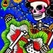 Si Oui Can Can / Si Se Puede - Art Print by Karina Gomez- Dia de los Muertos-Day of the Dead Theme- Mexican Folk Art