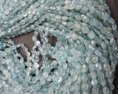 Aquamarine Oval shape Faceted beads 5-7 mm, 50 pieces   AAA quality