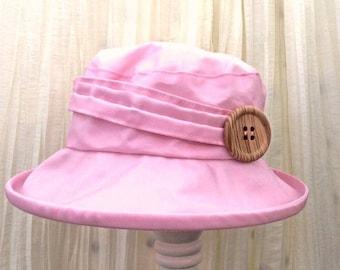 Pink PU Rain Hat