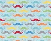 Riley Blake  Aqua Mustach...